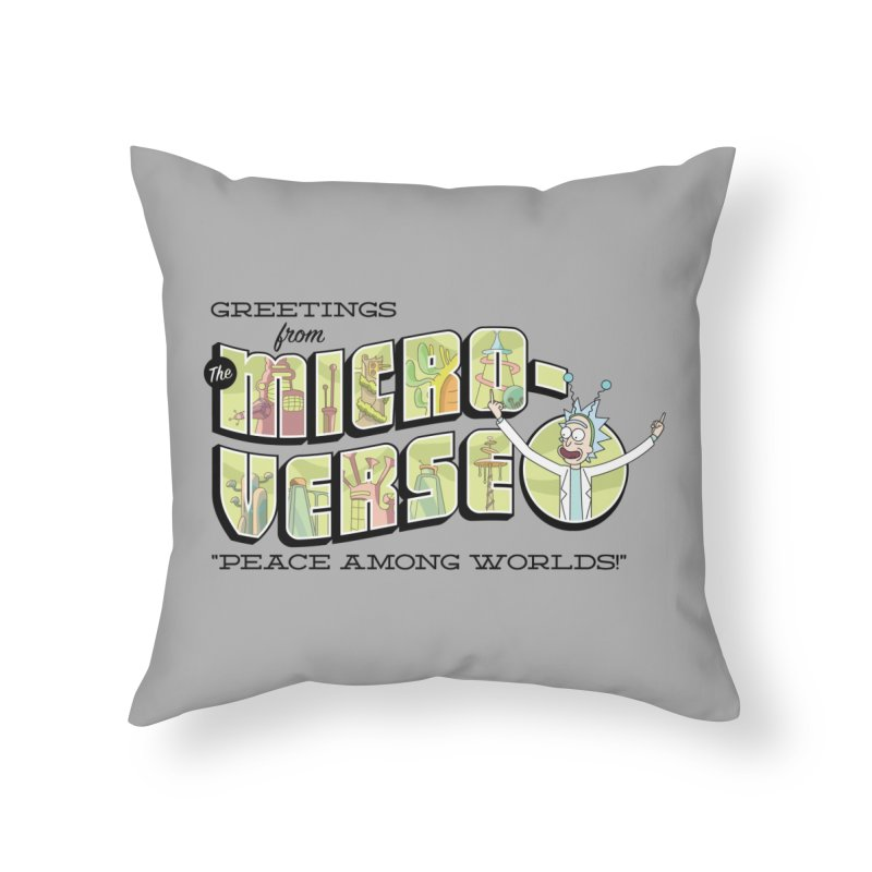 Greetings from The Microverse! Home Throw Pillow by Ian J. Norris
