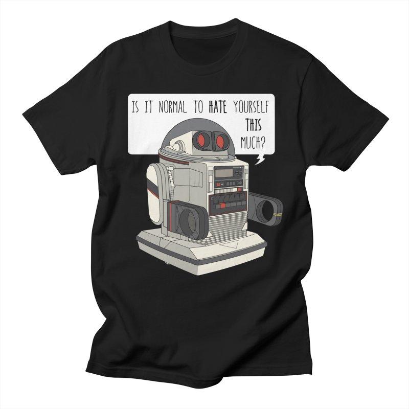 Cosmic Rain - Omnibot in Men's Regular T-Shirt Black by Ian J. Norris