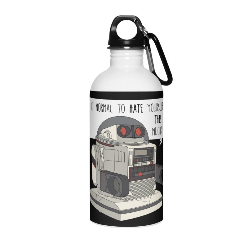 Cosmic Rain - Omnibot Accessories Water Bottle by Ian J. Norris