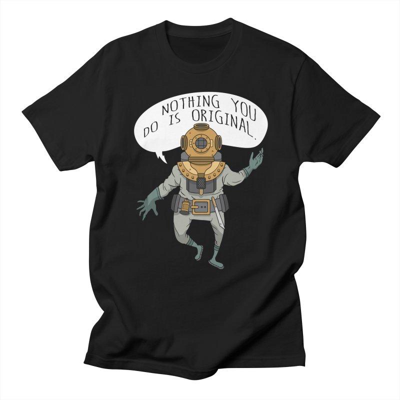 Cosmic Rain - The Deep Sea Diver in Men's Regular T-Shirt Black by Ian J. Norris