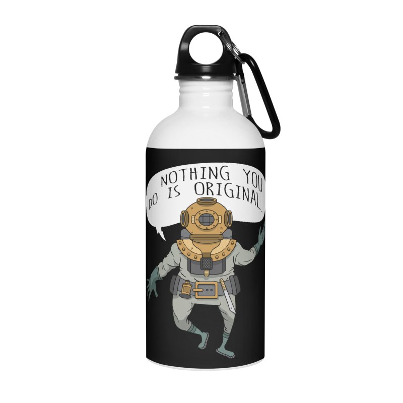 Cosmic Rain - The Deep Sea Diver Accessories Water Bottle by Ian J. Norris
