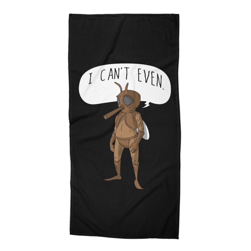 Cosmic Rain - Mosquito Man Accessories Beach Towel by Ian J. Norris