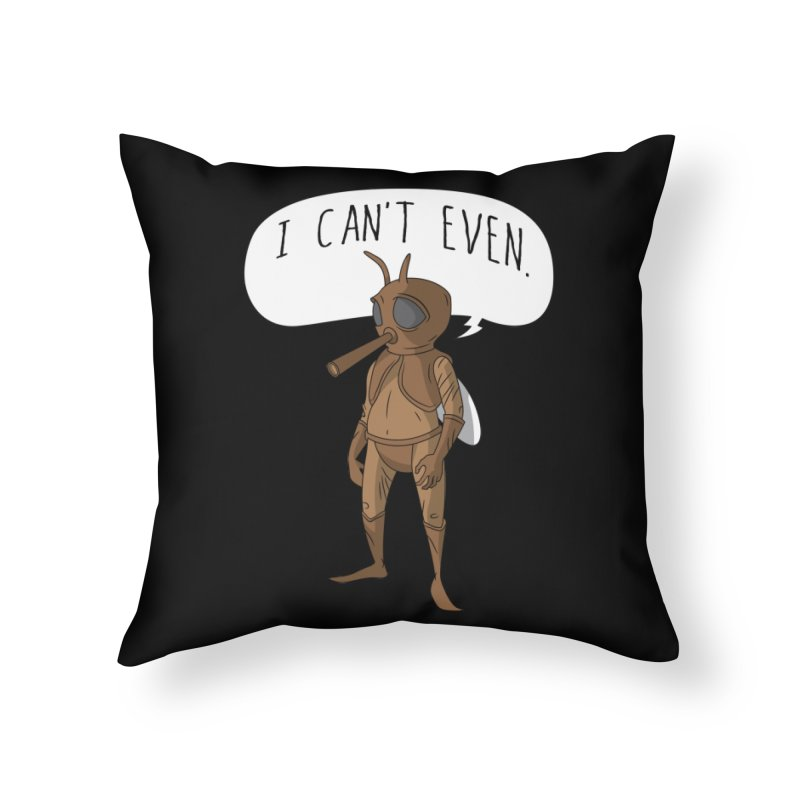 Cosmic Rain - Mosquito Man Home Throw Pillow by Ian J. Norris