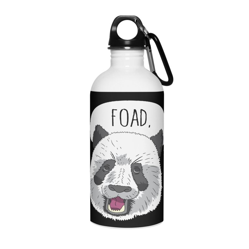 Cosmic Rain - Panda Accessories Water Bottle by Ian J. Norris