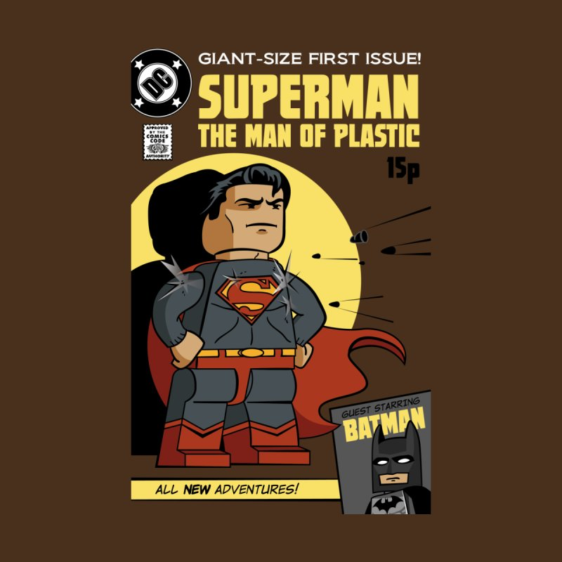Lego Superman Men's V-Neck by Ian J. Norris