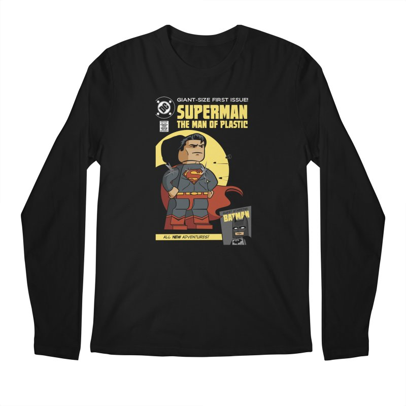 Lego Superman Men's Longsleeve T-Shirt by Ian J. Norris
