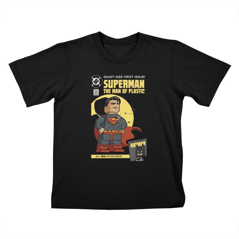 Lego Superman Kids T-Shirt by Ian J. Norris