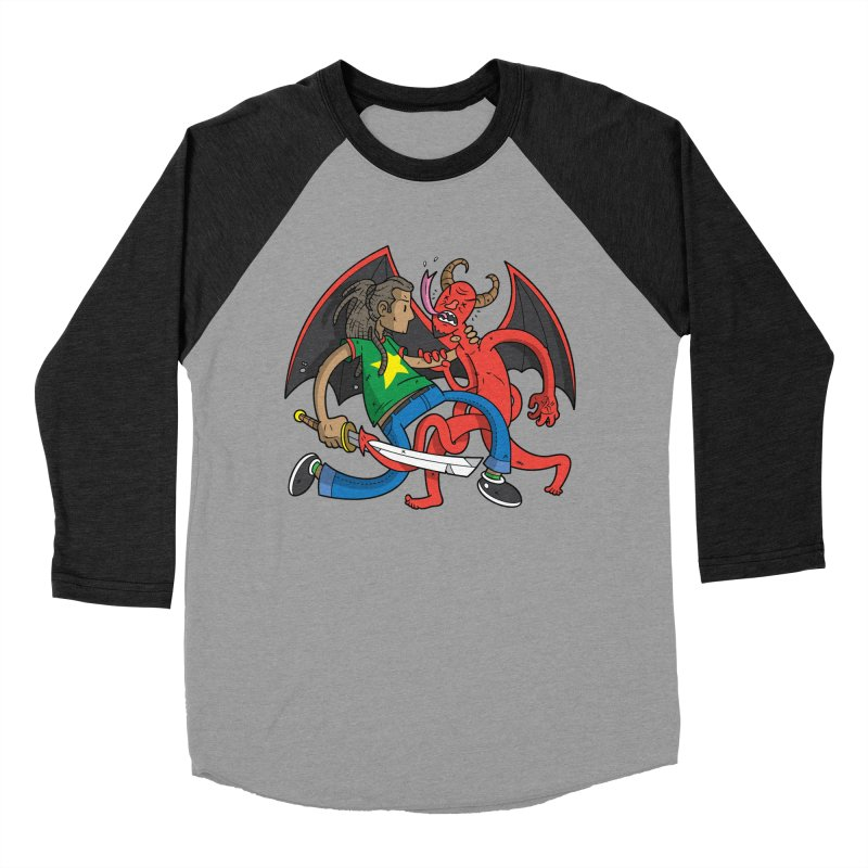 Star Dread Kill The Devil Women's Baseball Triblend Longsleeve T-Shirt by Ian J. Norris