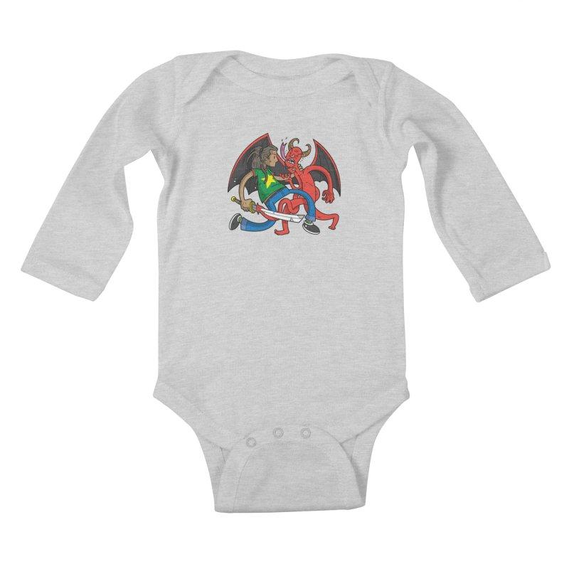 Star Dread Kill The Devil Kids Baby Longsleeve Bodysuit by Ian J. Norris
