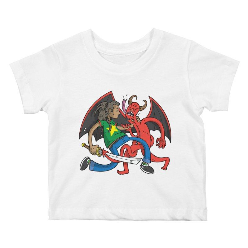 Star Dread Kill The Devil Kids Baby T-Shirt by Ian J. Norris