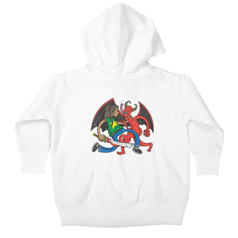 Star Dread Kill The Devil Kids Baby Zip-Up Hoody by Ian J. Norris
