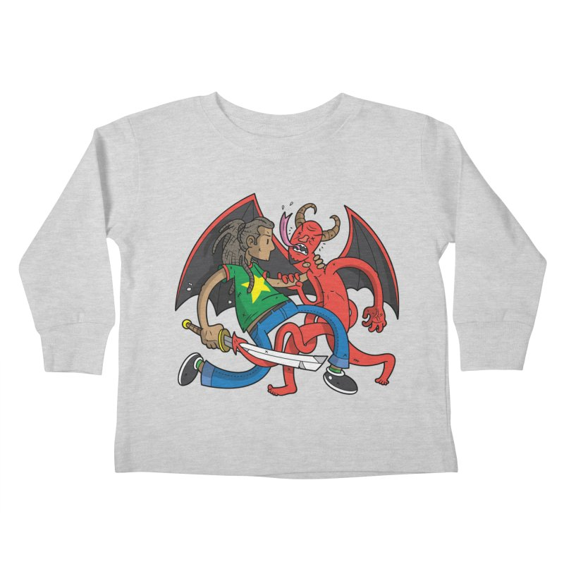 Star Dread Kill The Devil Kids Toddler Longsleeve T-Shirt by Ian J. Norris