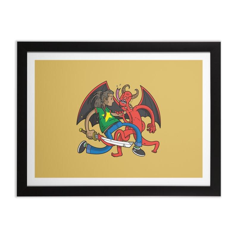 Star Dread Kill The Devil Home Framed Fine Art Print by Ian J. Norris
