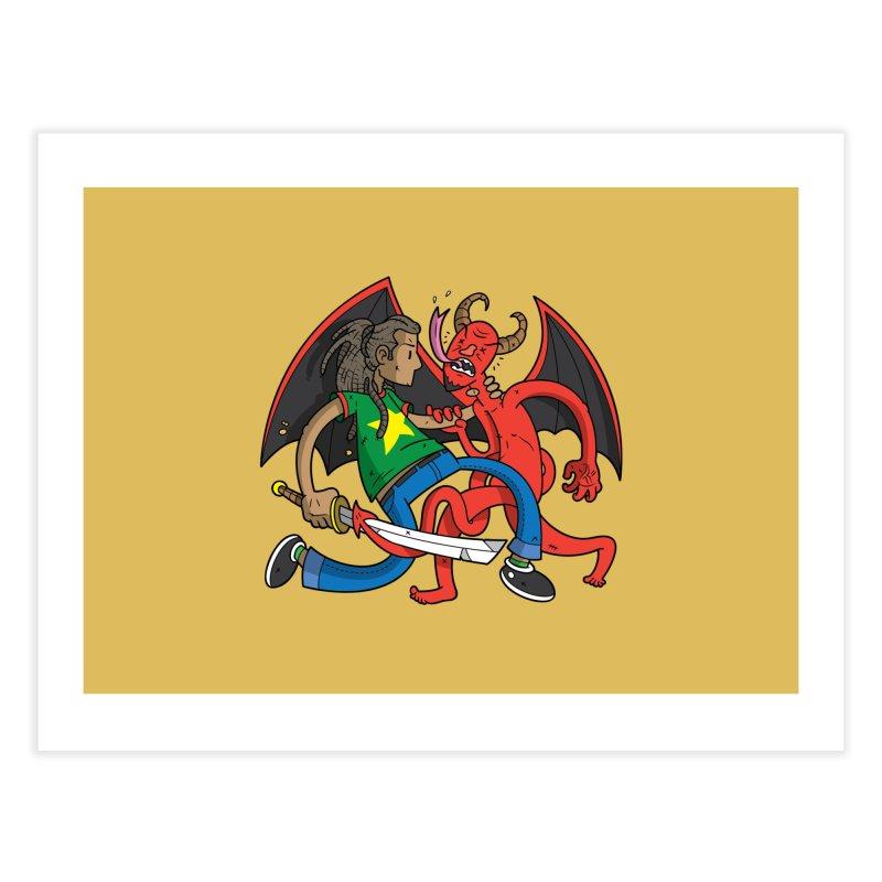 Star Dread Kill The Devil Home Fine Art Print by Ian J. Norris