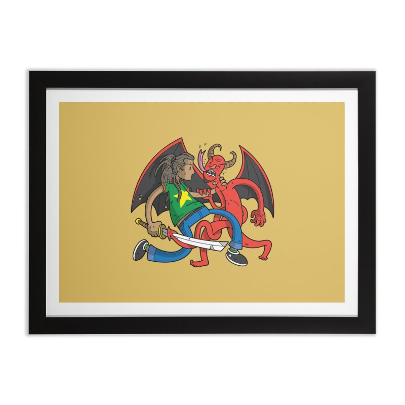 Star Dread Kill The Devil Home Framed Fine Art Print by Ian J. Norris
