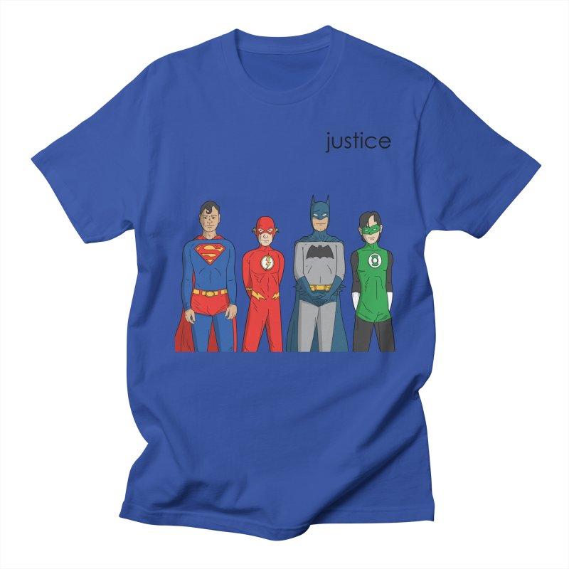Justice in Men's Regular T-Shirt Royal Blue by Ian J. Norris