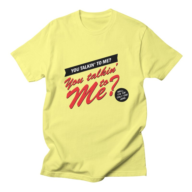 Better Call Travis in Men's Regular T-Shirt Lemon by Ian J. Norris