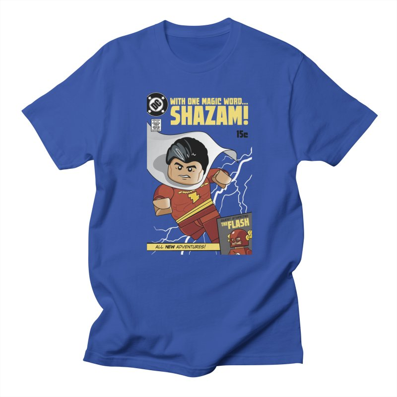 Lego Shazam in Men's Regular T-Shirt Royal Blue by Ian J. Norris
