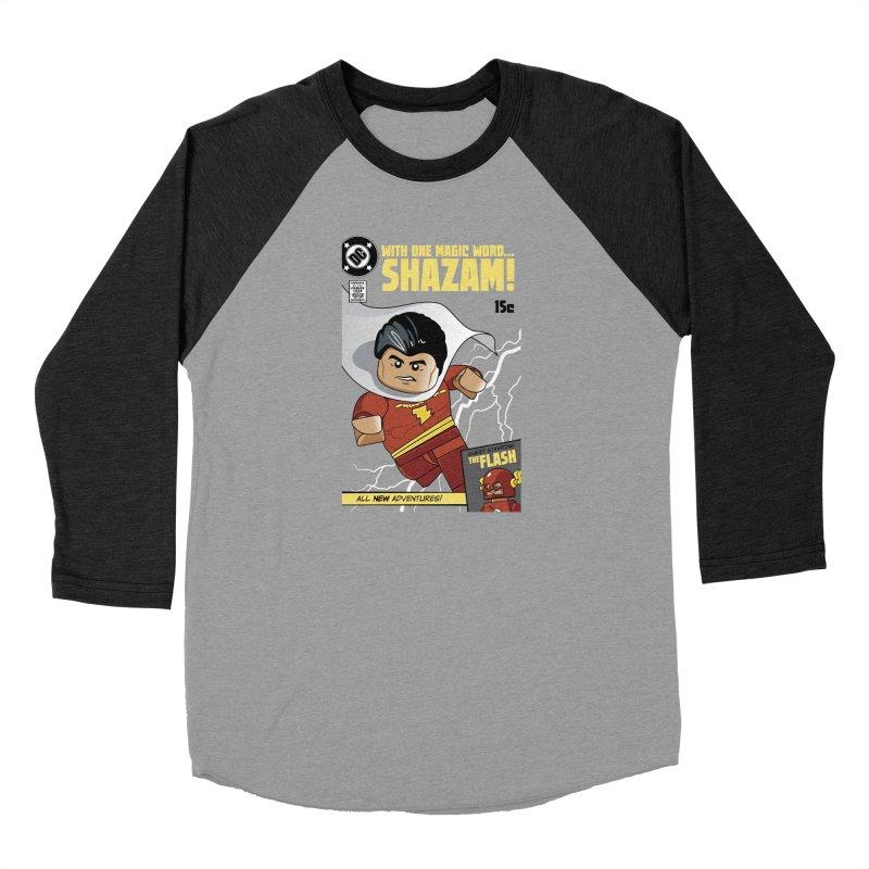 Lego Shazam Men's Baseball Triblend Longsleeve T-Shirt by Ian J. Norris