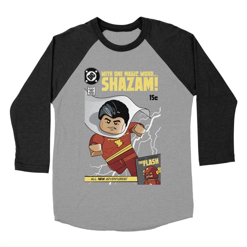 Lego Shazam Women's Baseball Triblend Longsleeve T-Shirt by Ian J. Norris