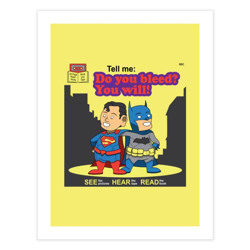 Do You Bleed? You Will! Home Fine Art Print by Ian J. Norris