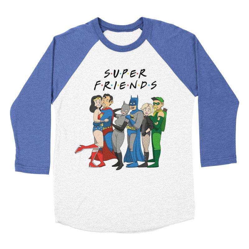 Super Friends Women's Baseball Triblend Longsleeve T-Shirt by Ian J. Norris