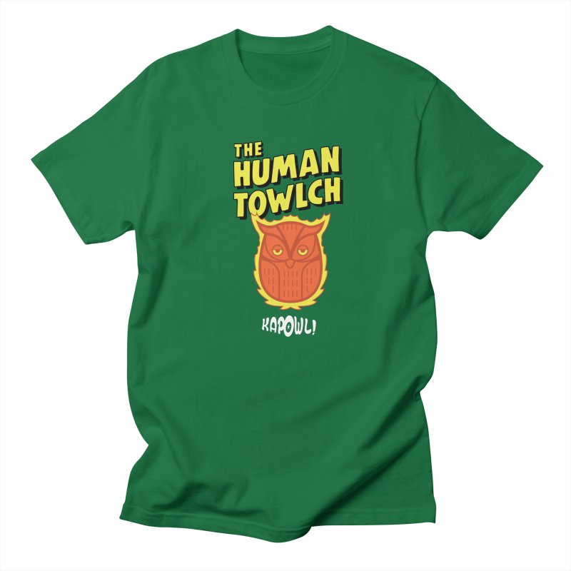 The Human Towlch in Men's Regular T-Shirt Kelly Green by Ian J. Norris