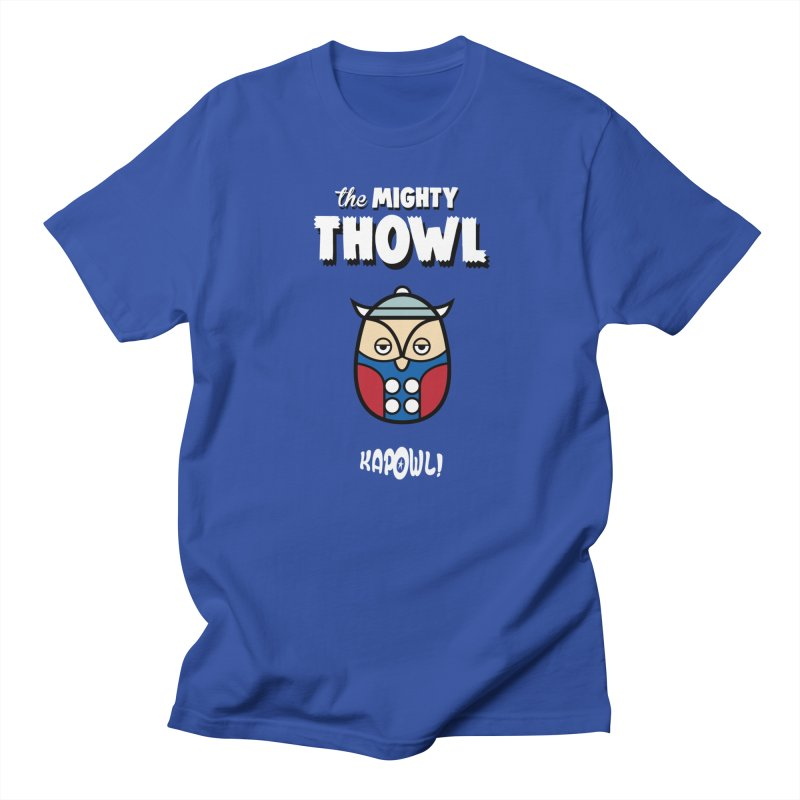The Mighty Thowl in Men's Regular T-Shirt Royal Blue by Ian J. Norris