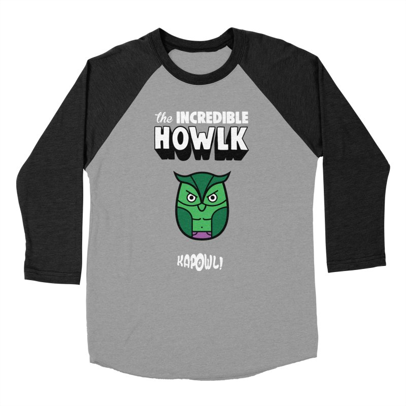 The Incredible Howlk Men's Baseball Triblend Longsleeve T-Shirt by Ian J. Norris