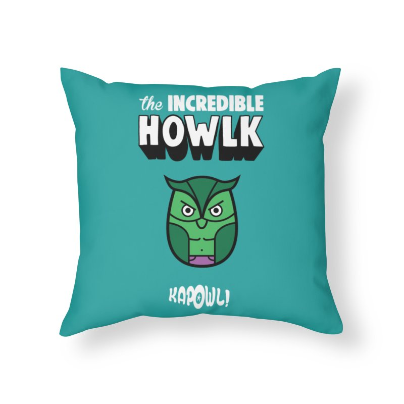 The Incredible Howlk Home Throw Pillow by Ian J. Norris