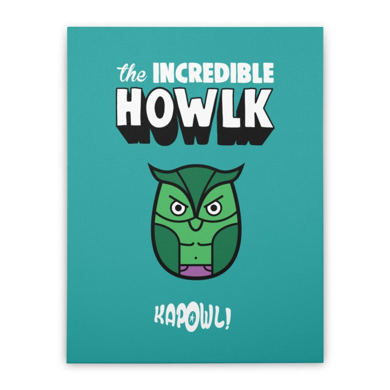 The Incredible Howlk Home Stretched Canvas by Ian J. Norris