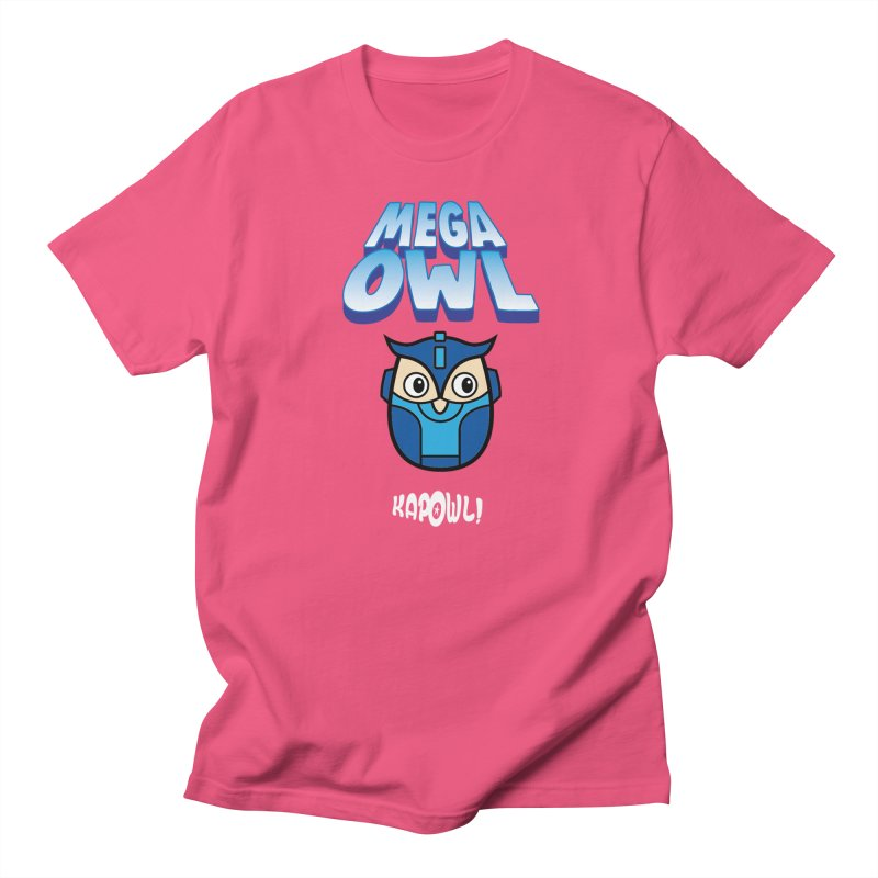 Mega Owl in Men's Regular T-Shirt Fuchsia by Ian J. Norris