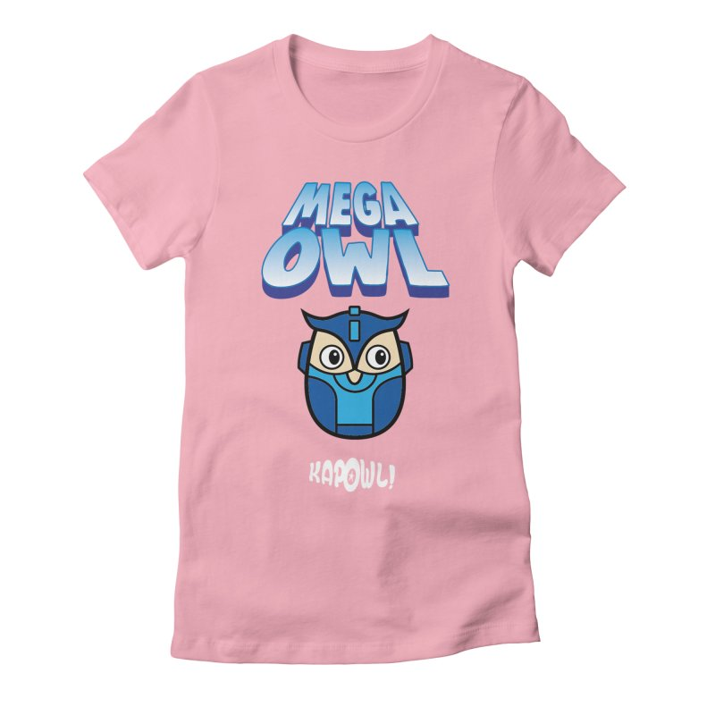 Mega Owl Women's Fitted T-Shirt by Ian J. Norris