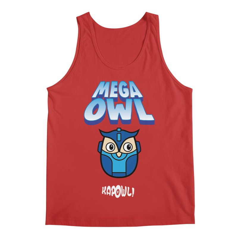 Mega Owl Men's Regular Tank by Ian J. Norris