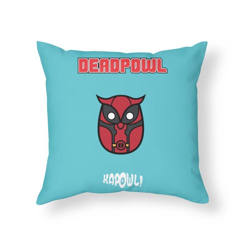 Deadpowl Home Throw Pillow by Ian J. Norris