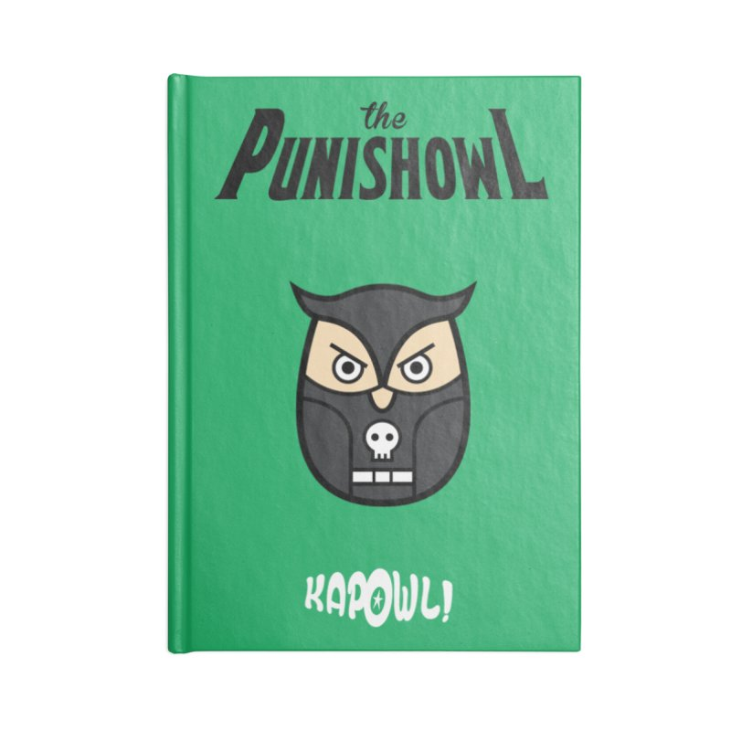 The Punishowl Accessories Blank Journal Notebook by Ian J. Norris