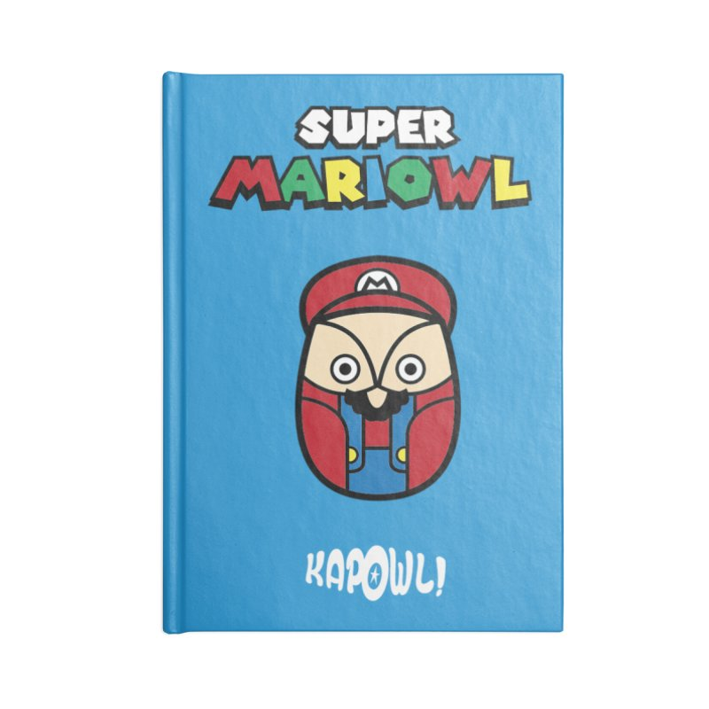 Super Mariowl Accessories Blank Journal Notebook by Ian J. Norris