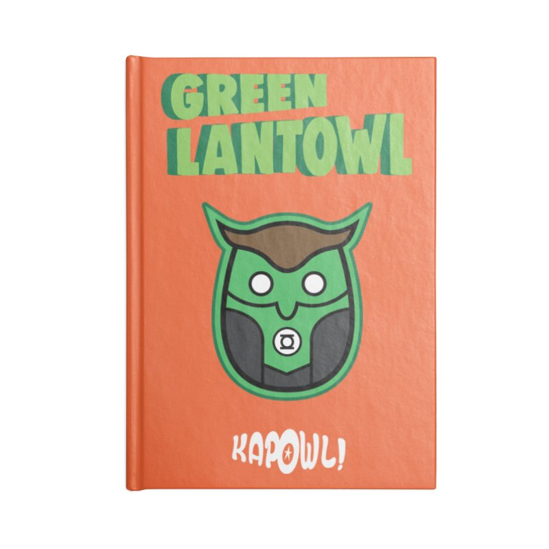 Green Lantowl Accessories Blank Journal Notebook by Ian J. Norris