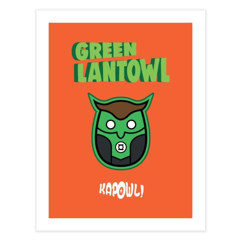 Green Lantowl Home Fine Art Print by Ian J. Norris