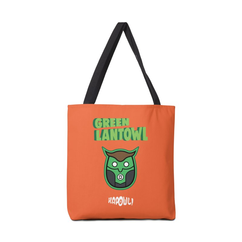 Green Lantowl Accessories Tote Bag Bag by Ian J. Norris