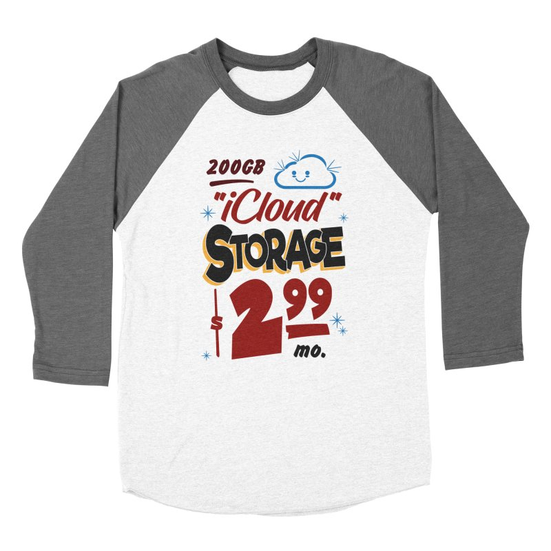iCloud Storage Sign Women's Baseball Triblend Longsleeve T-Shirt by Ian J. Norris