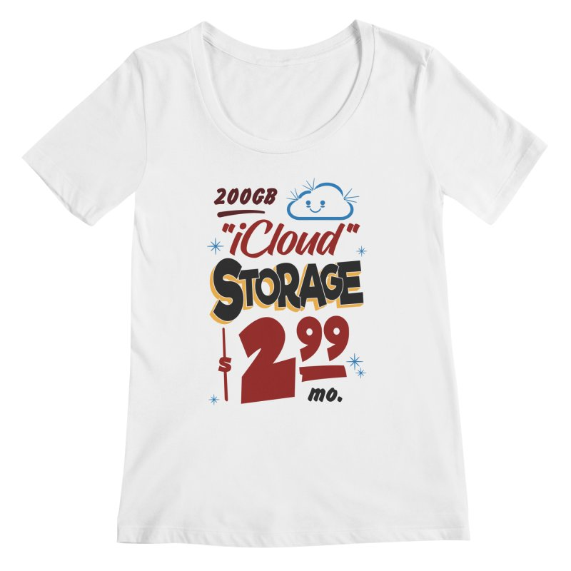 iCloud Storage Sign Women's Regular Scoop Neck by Ian J. Norris