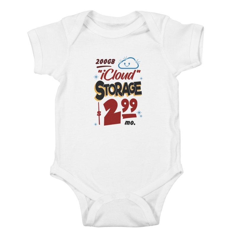 iCloud Storage Sign Kids Baby Bodysuit by Ian J. Norris