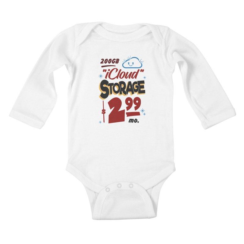 iCloud Storage Sign Kids Baby Longsleeve Bodysuit by Ian J. Norris