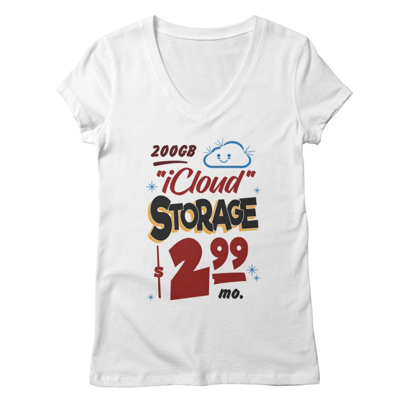 iCloud Storage Sign Women's V-Neck by Ian J. Norris