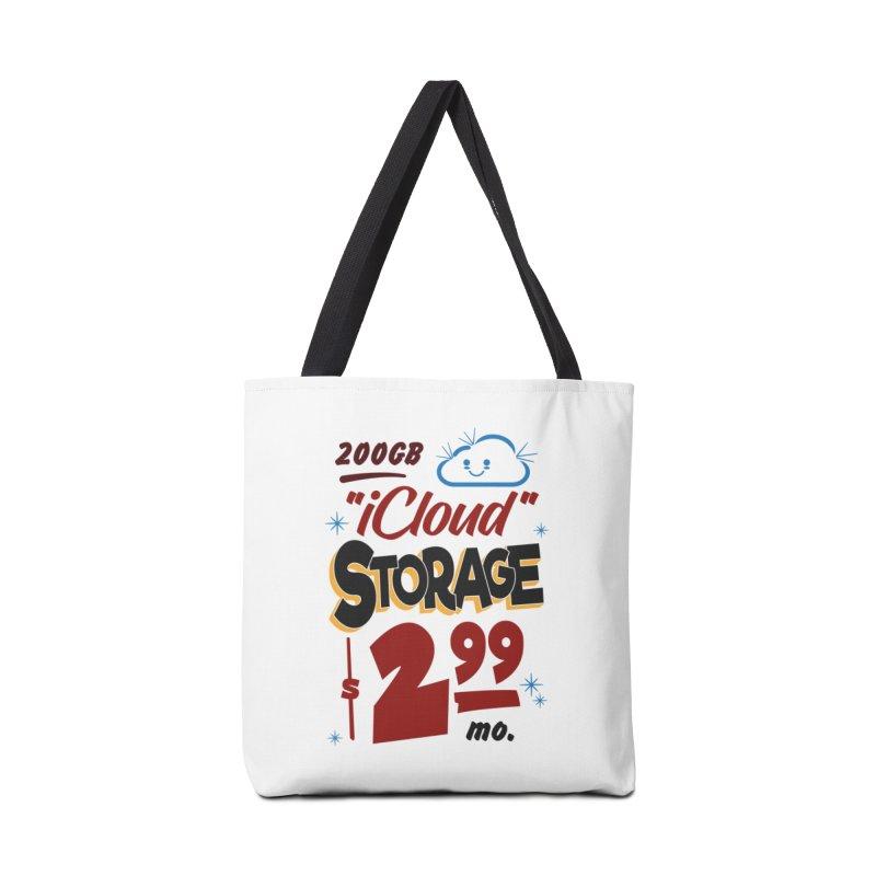 iCloud Storage Sign Accessories Tote Bag Bag by Ian J. Norris