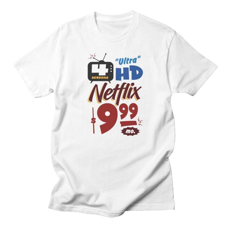Netflix Sign Men's T-Shirt by Ian J. Norris