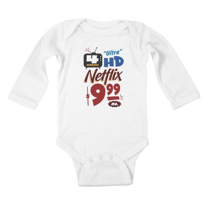 Netflix Sign Kids Baby Longsleeve Bodysuit by Ian J. Norris
