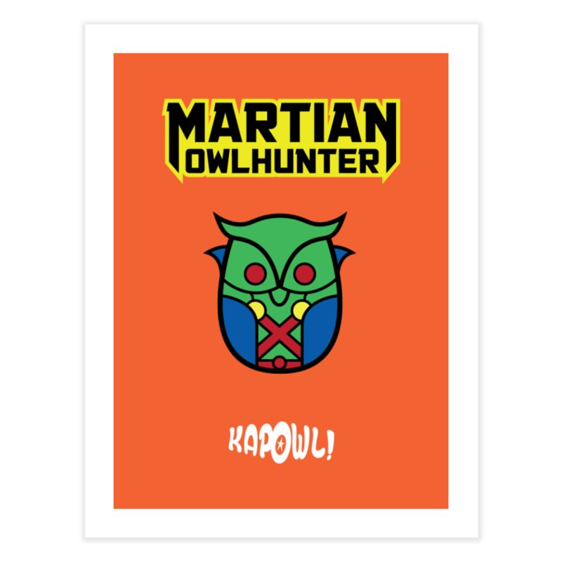 The Martian Owlhunter Home Fine Art Print by Ian J. Norris