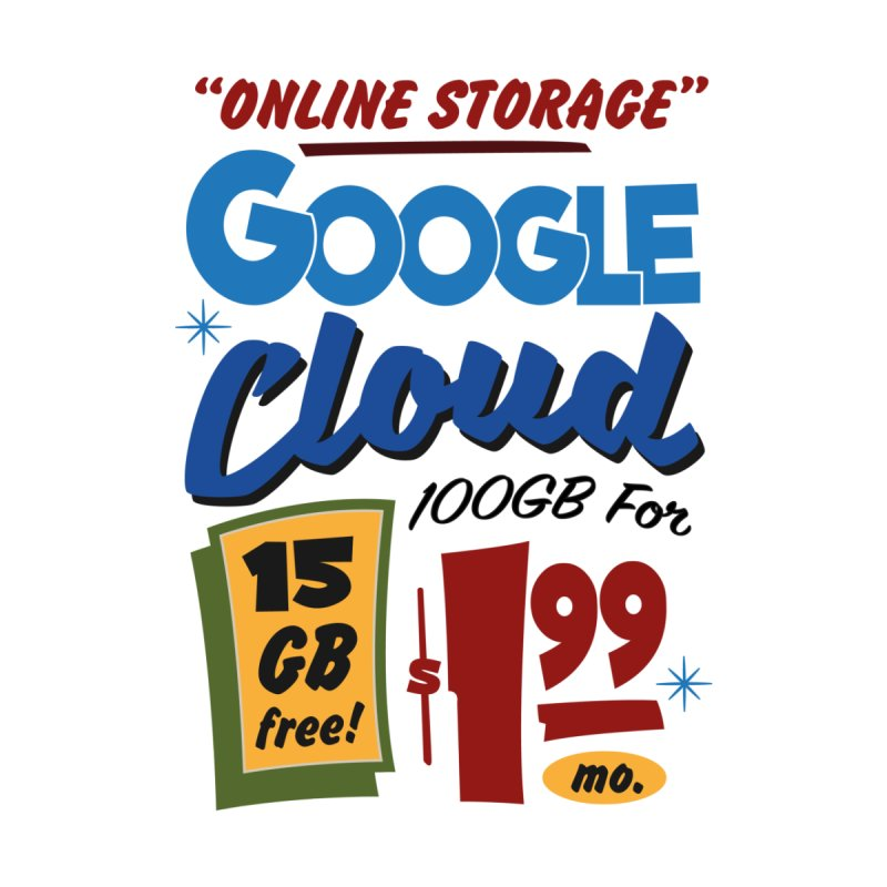 Google Cloud Sign Home Mounted Acrylic Print by Ian J. Norris